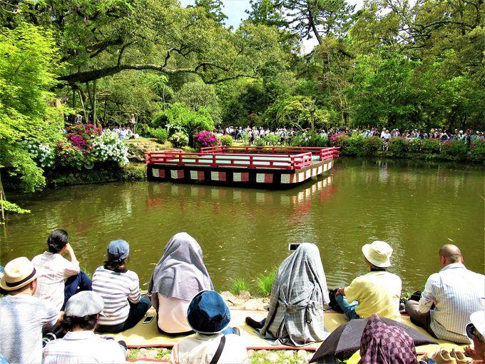 会場となる世界遺産・春日大社境内の「萬葉植物園」