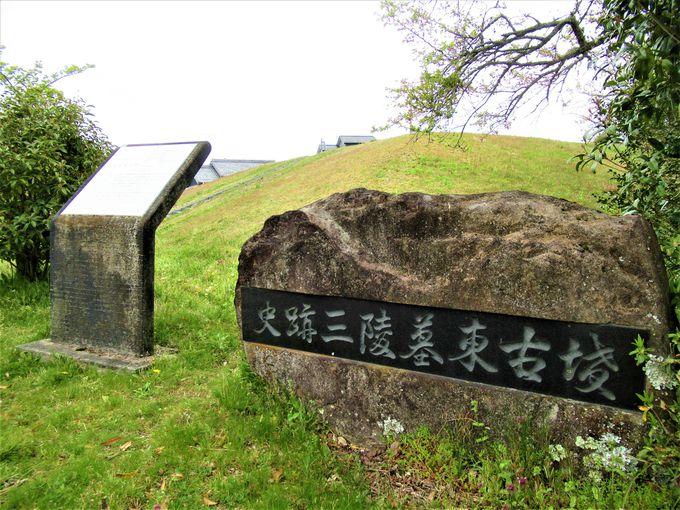 奈良市の高原地帯にある「三陵墓古墳群史跡公園」