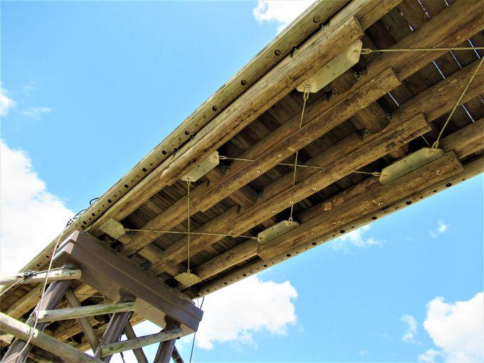 下からも眺めよう!橋脚部分