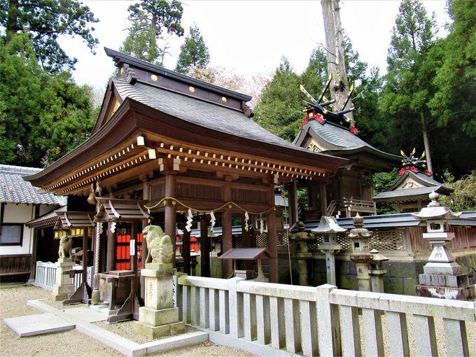 点々と連なる国津神社の「やすんば」