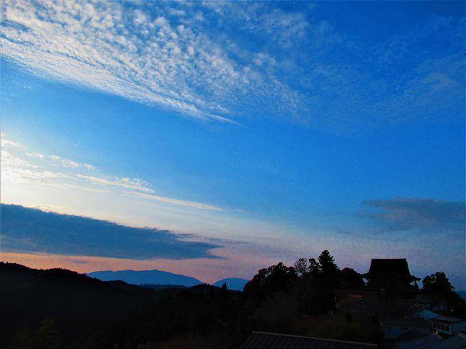 旅の終わりに!夕闇迫る吉野山