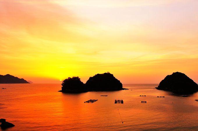 田井ノ浜からの朝陽は空気が澄んだ真冬が一番美しい!