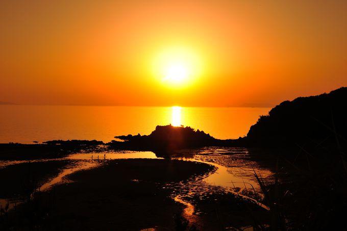 浦島伝説の浜は夕陽の絶景ポイント!