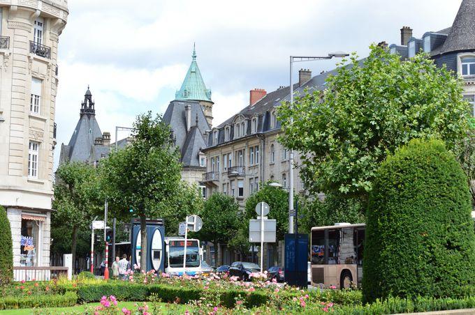 経済国となったルクセンブルグの中心新市街の街並み