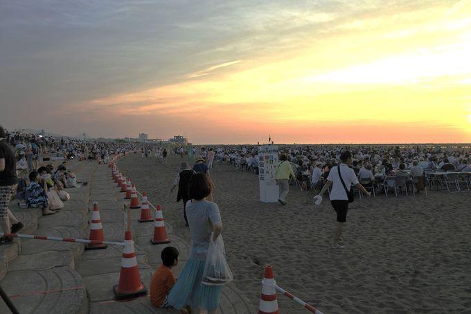 海を舞台に超ダイナミック!ぎおん柏崎まつり海の大花火大会