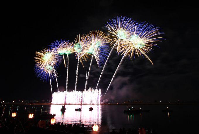 揖斐川河畔で行われる東海屈指の花火大会