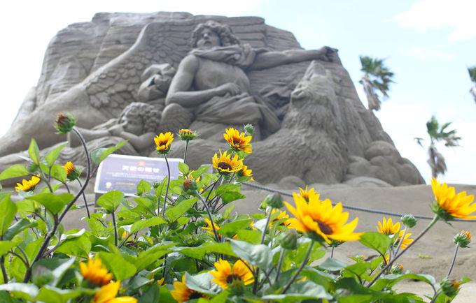 ファミリーパークの新しい魅力「砂像美術館」