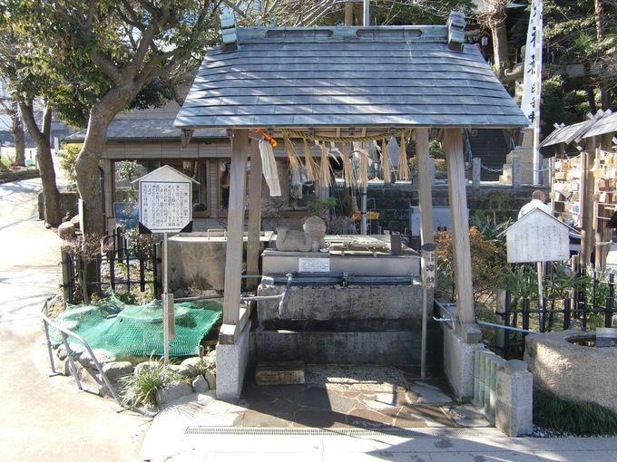 手水(ちょうず)、砂にもご利益!「走水神社」