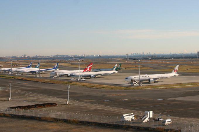 エアポートビュー客室からの羽田空港の眺めは最高!