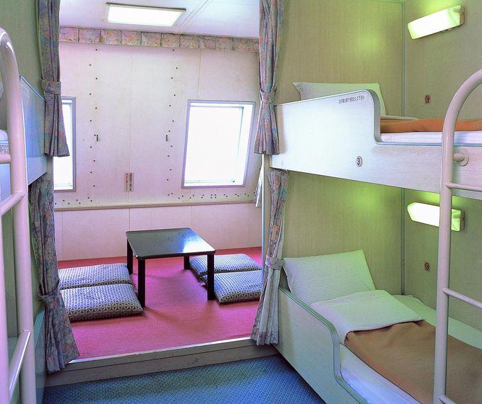 1人用個室も!充実の客室「宮崎カーフェリー」