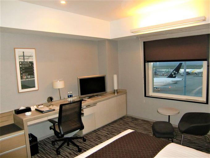 空港にいながら静かな客室!飛行機が見える部屋も!