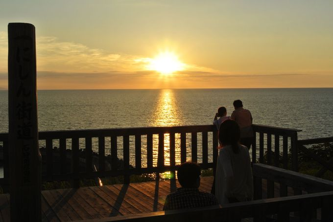 日本海沿いの夕日がきれいな町・石狩市厚田