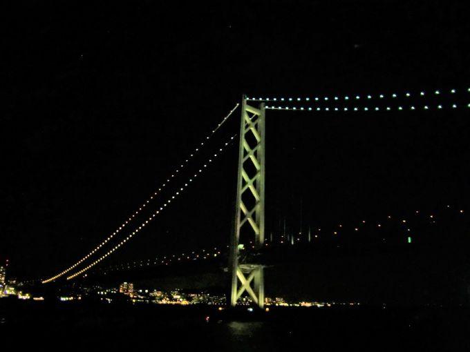 瀬戸内海3大架橋を橋の下から!神戸発は神戸の夜景が目の前