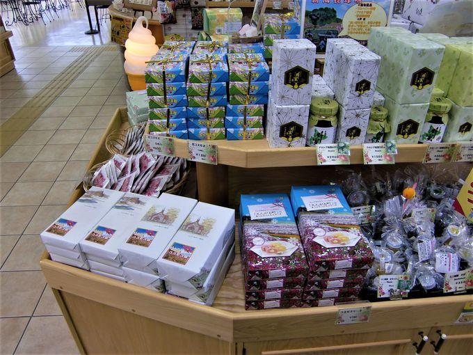 軽食・売店では地元品を販売!