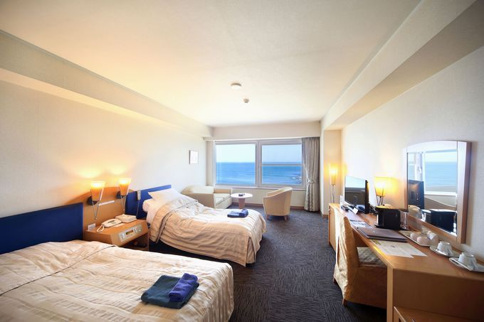 全室オーシャンビュー!「ホテル日の出岬」の客室