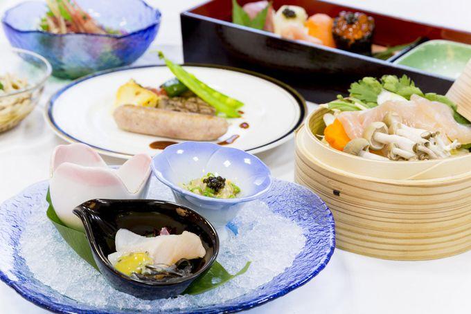 チョウザメ料理はびふか温泉レストラン「つつじ」で!