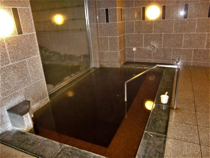 天然温泉「知床の湯」でゆったりと!
