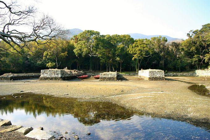 江戸時代に対馬藩が建設した造船所跡!お船江跡