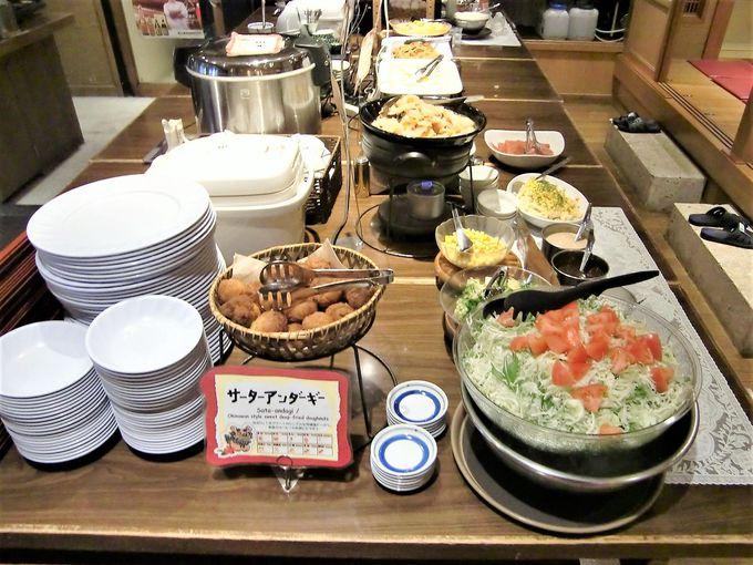 健康食材中心の和琉バイキング朝食!夜は食堂が沖縄居酒屋に