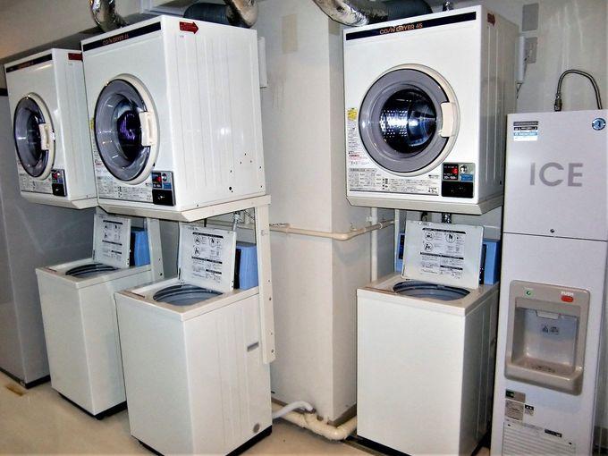 ビジネス・長期滞在にうれしいPCコーナーに洗濯乾燥機も!
