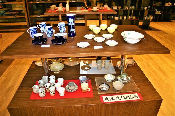 1階ショッピングプラザは土産・唐津焼・衣料品が充実!
