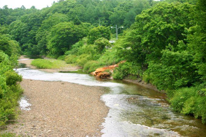 天の川のそばにある温泉!旧JR江差線の駅跡から近い
