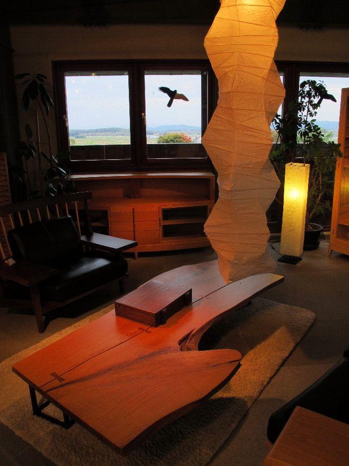 大雪山を望む自然豊かな環境 匠工芸ショールーム