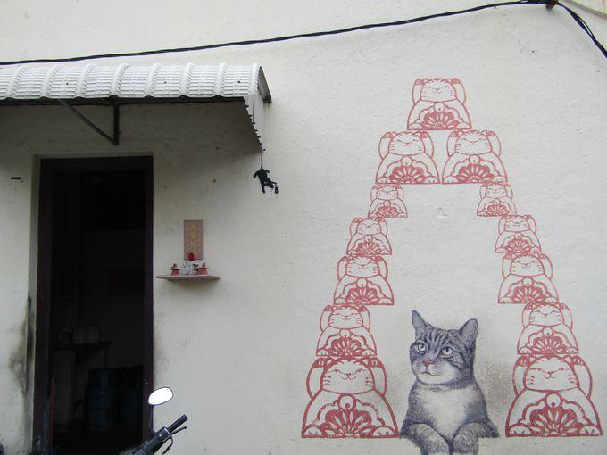 可愛い猫のアートも!