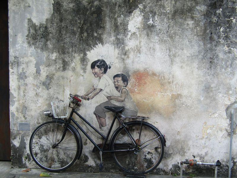 消えゆく芸術を求めて 世界遺産のペナン島で壁画アートを見よう!
