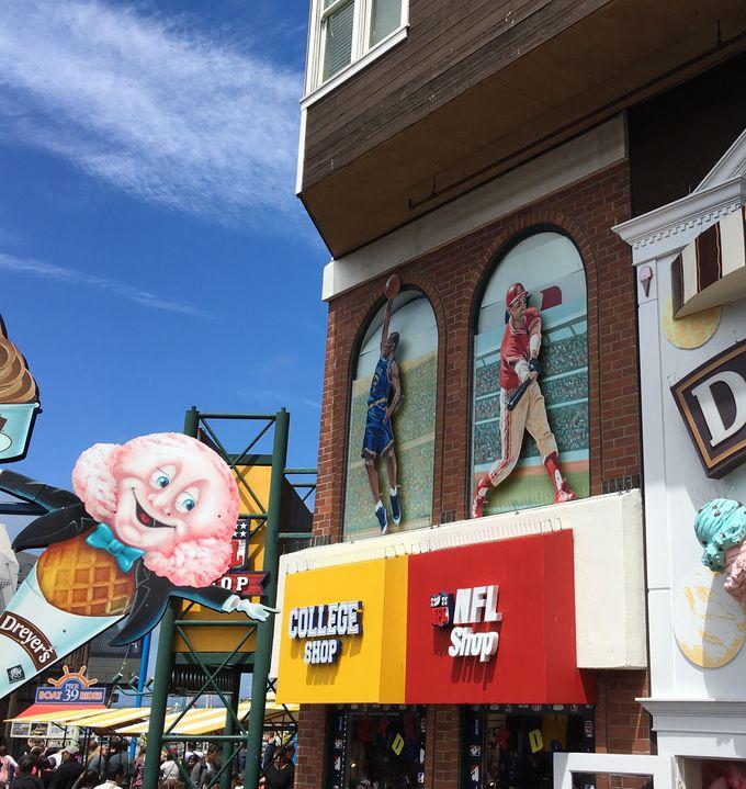Pier39でアトラクション、ショッピング、お食事を満喫!