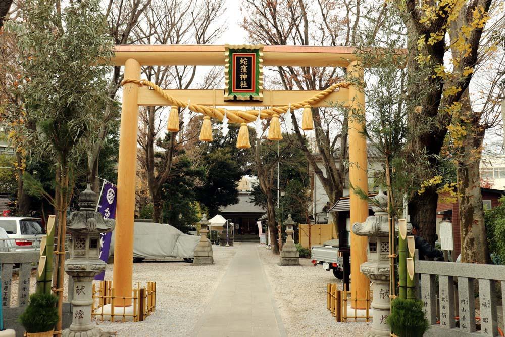 9柱の神様を祀る「蛇窪神社」