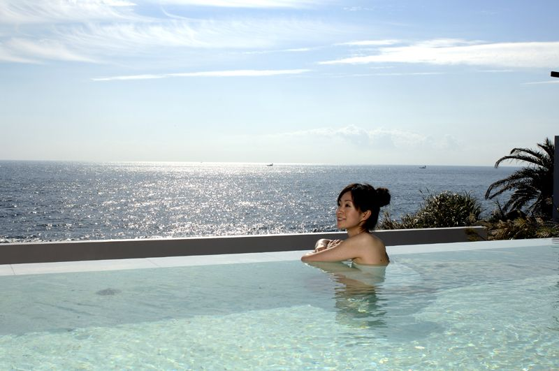 思いっきり体を動かして遊んだ後は、絶景露天風呂でゆったりタイム