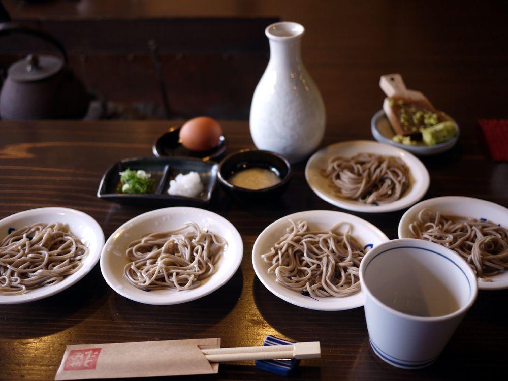 お昼ご飯は城下町出石で皿そばに舌鼓