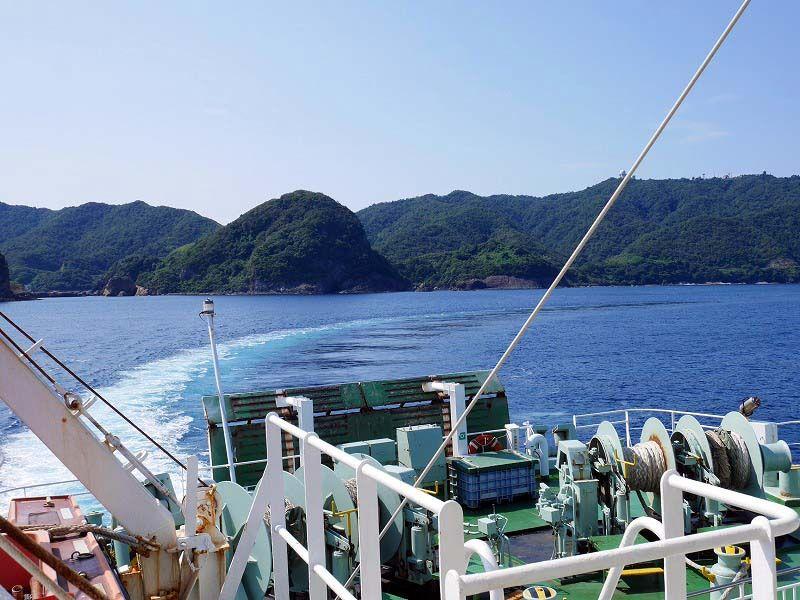9時30分:島根県七類港からフェリーで出発