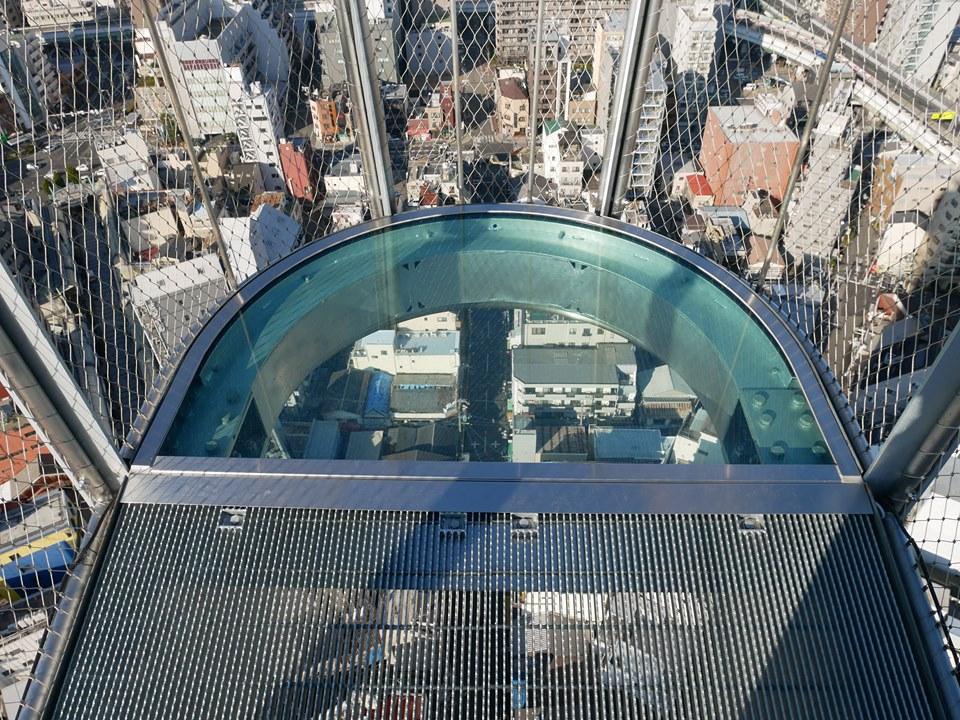 通天閣の跳ね出し展望台「TIP THE TSUTENKAKU」は地上92.5m