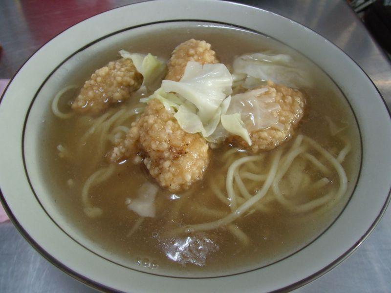 サクサク鰆フライにとろ〜りスープ「鰆のフライ麺」
