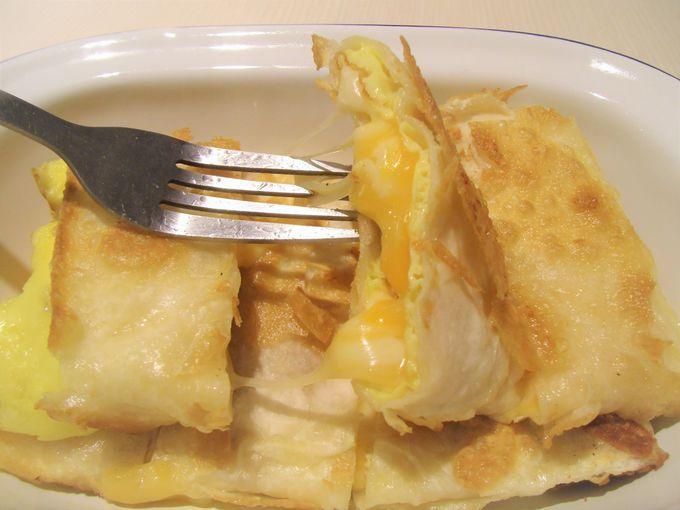 チーズとろ〜り蛋餅がおいしすぎる!