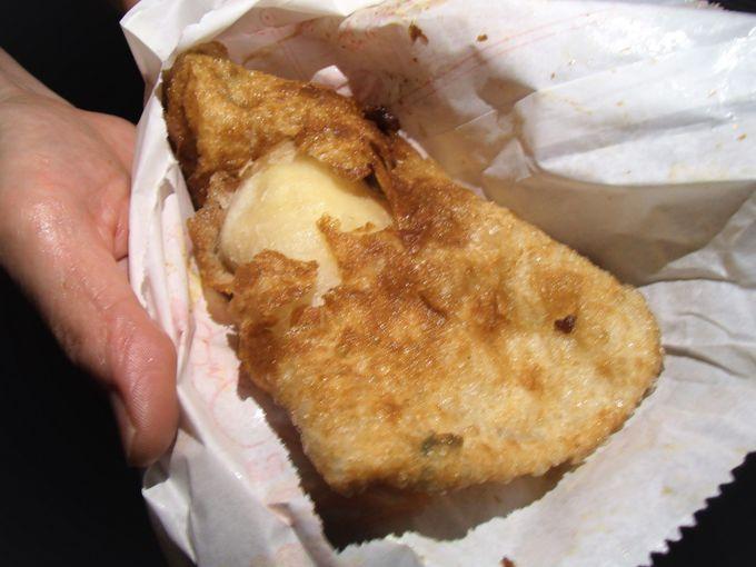 揚げたてネギ餅に選べるトッピング!「炸蛋葱油餅」