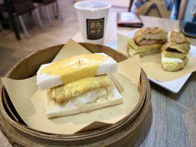 セイロ入りトーストサンドで台湾朝ごはん!台北「熱胖子」
