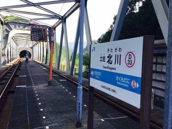 """「土佐北川駅の秘密とは…?」全国に4つしかない、""""鉄橋上の駅""""だった!そして駅舎を囲む大自然を…"""