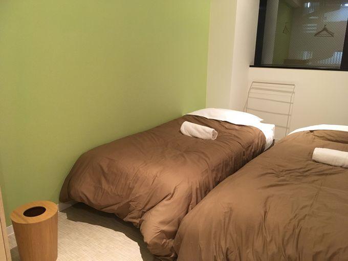 部屋タイプはドミトリー、ドミトリーベッド個室、個室の3タイプ