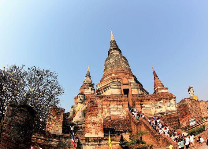 アユタヤで唯一残った寺院「ワット・ヤイ・チャイ・モンコン」