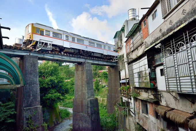平渓駅近くの鉄橋