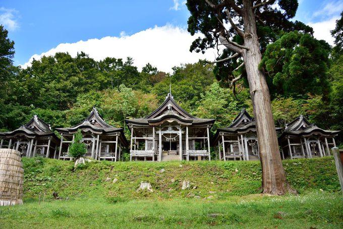 長い石段の先にある神秘的な5つの社「赤神神社五社堂」