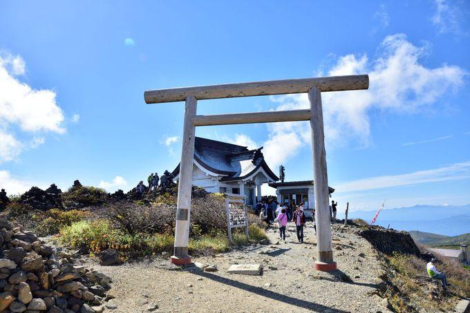 刈田岳山頂の様子