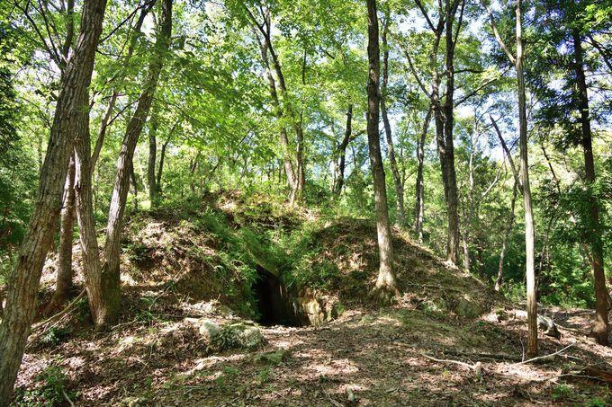石室内を自由に見学できる「塚山古墳群」