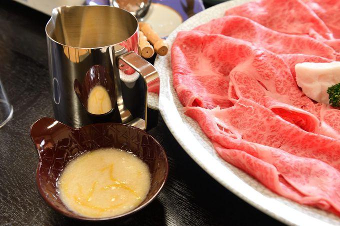 和牛のゆずとろろすき焼き