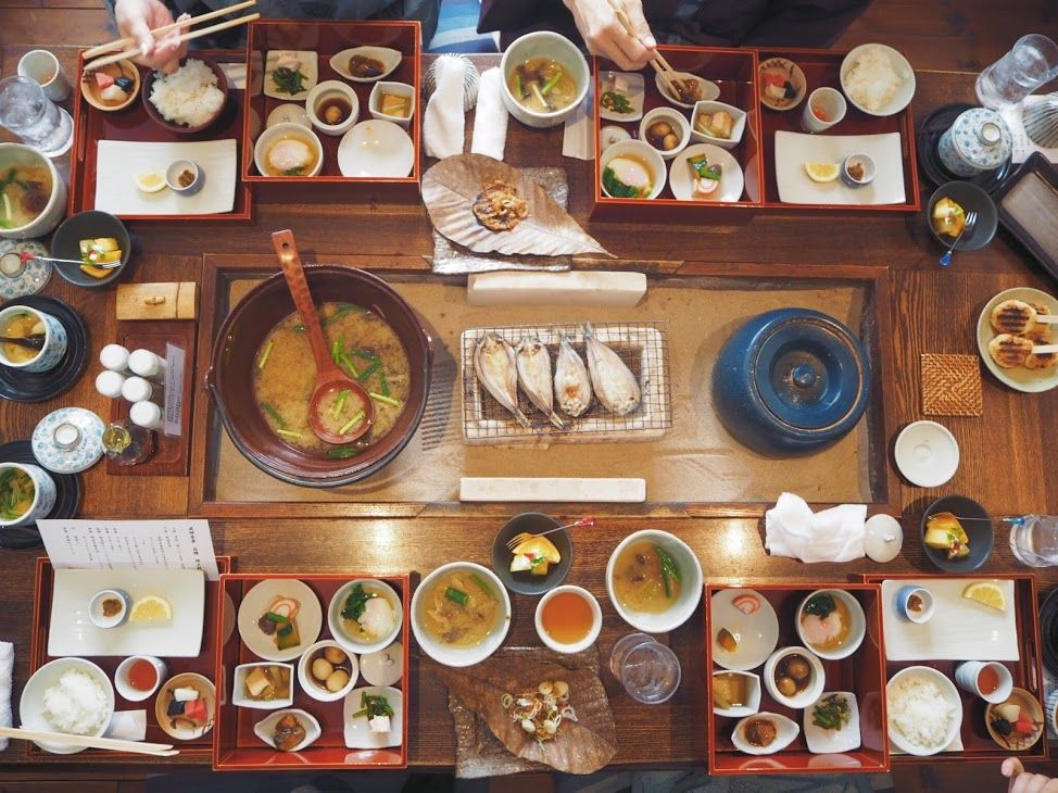 飛騨の郷土料理が味わえる朝食