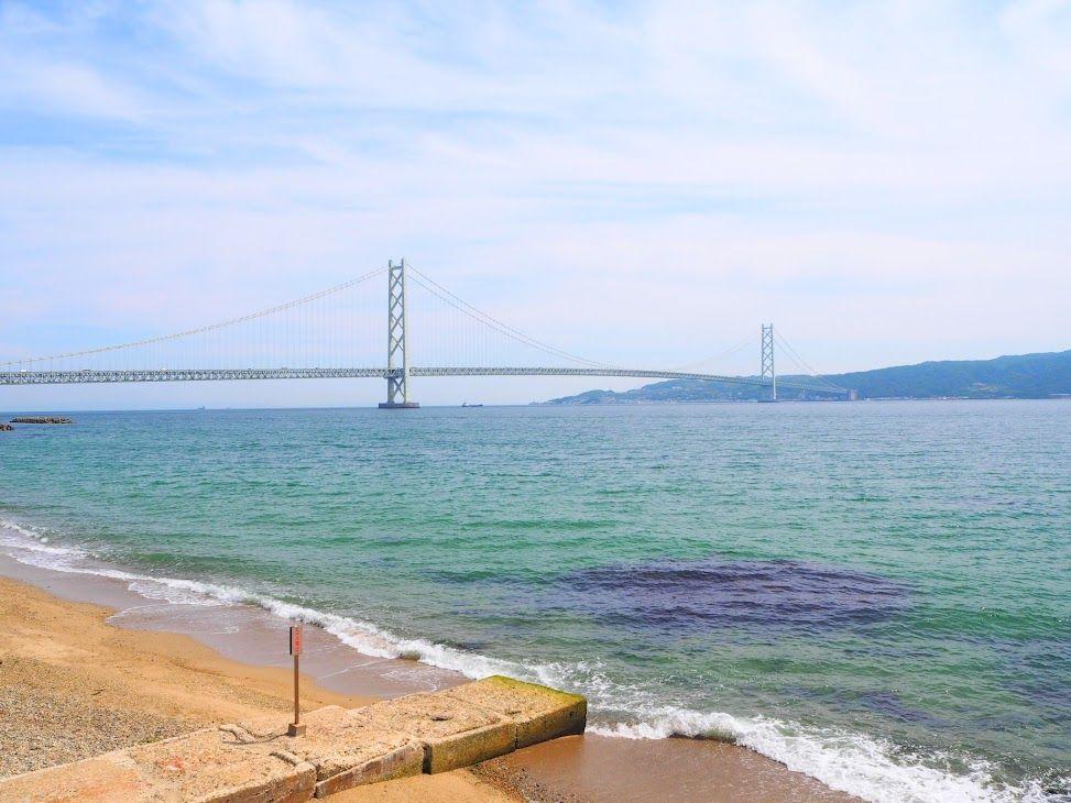 海が目の前!明石海峡大橋も見える絶好ロケーション