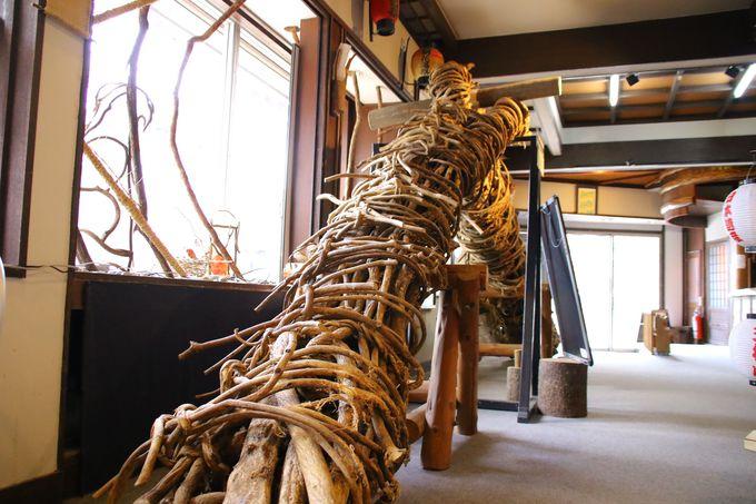 藤かづらで作られた綱